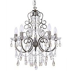 Litecraft - Madonna 5 Light Dual Mount Antique Brass Chandelier