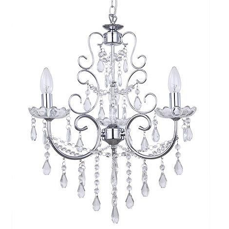 Litecraft - Madonna 3 light dual mount Chrome chandelier