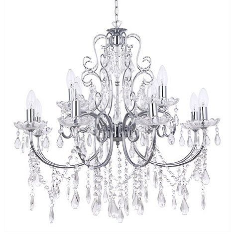 Litecraft - Madonna 12 light dual mount Chrome chandelier