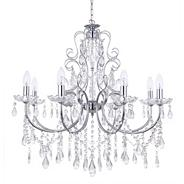 Madonna 8 Light Dual Mount Chrome Chandelier