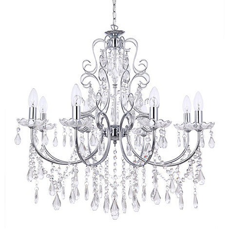 Litecraft - Madonna 8 light dual mount chrome chandelier