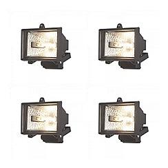 Litecraft - 4 Pack 120w Black Outdoor Floodlights