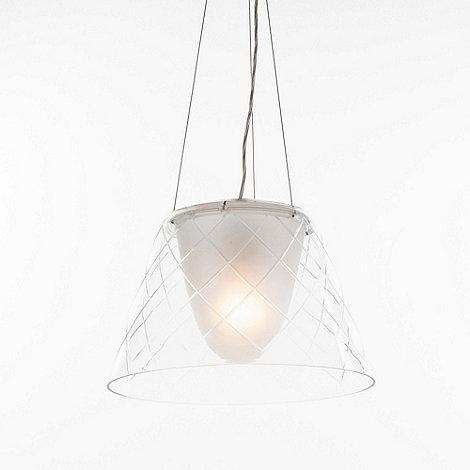 Litecraft - Replica circa 1949 Etched Glass Pendant Light