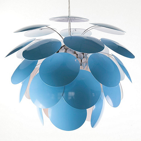 Litecraft - Replica Circa 1949 Large Blue Pendant Light