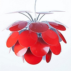 Litecraft - Replica Circa 1949 Small Red Pendant Light