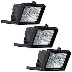 Litecraft - 3 Pack 150w Black Outdoor Floodlights