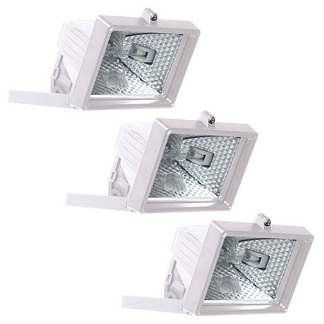 Litecraft - 3 Pack 150w White Outdoor Floodlights