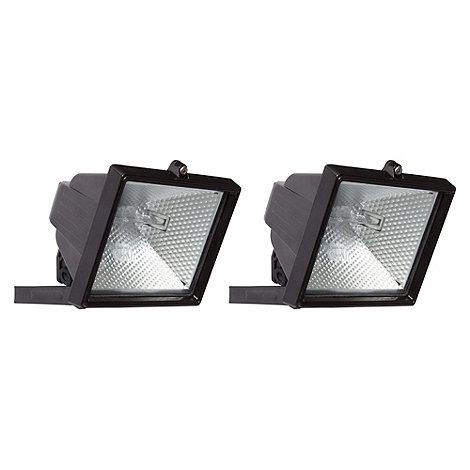 Litecraft - 2 Pack 500W Black Outdoor Floodlights