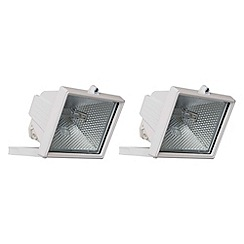 Litecraft - 2 Pack 500W White Outdoor Floodlights