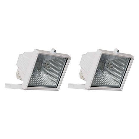 Litecraft - 2 Pack 500W White Outdoor Floodlights