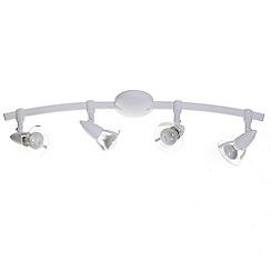 Litecraft - Hamilton 4 light White spotlight bar
