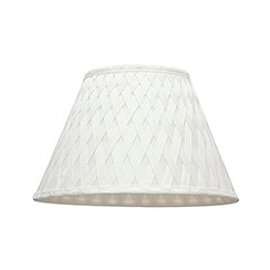 Litecraft - Sasha 12 inch Ivory woven lamp shade
