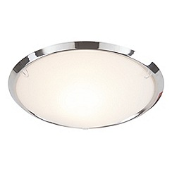 Litecraft - Demy chrome flush ceiling light