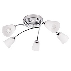 Litecraft - Marche 5 light Satin Nickel bathroom ceiling light