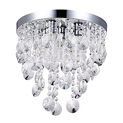 Litecraft - Elisa 5 Light Crystal Effect Bathroom Ceiling Light