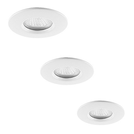 Litecraft - 3 Pack Niccolo White bathroom downlights