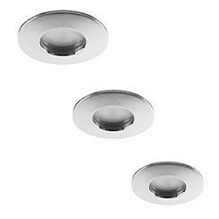 Litecraft - 3 pack niccolo chrome bathroom down lights