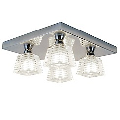 Litecraft - Pyxis K9 Glass 4 Light Bathroom Ceiling Light