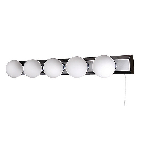Litecraft - Tasmieno 5 Light Opal Glass Bathroom Strip Light