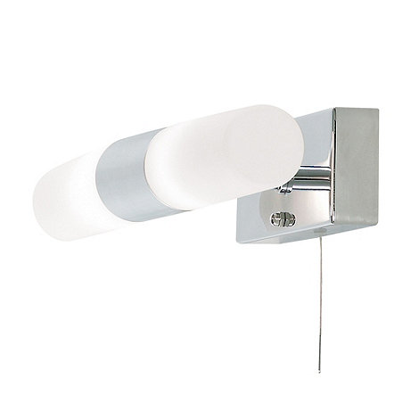 Litecraft - Elena 2 light glass bathroom wall light