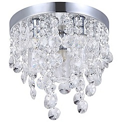 Litecraft - Elisa 3 light Crystal effect bathroom ceiling light