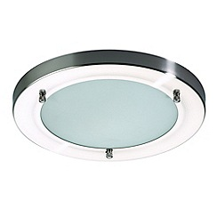 Litecraft - Mari Large Stainless Steel Flush Bathroom Light