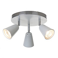 Litecraft - Thimble 3 light White spotlight plate