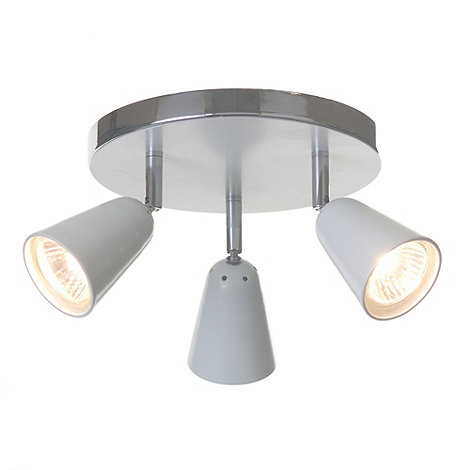 Litecraft - Thimble 3 light White spotlight plate