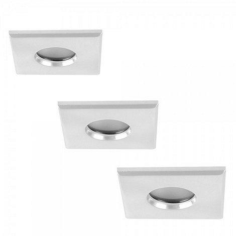 Litecraft - 3 Pack Quadratus White Square Bathroom Downlights