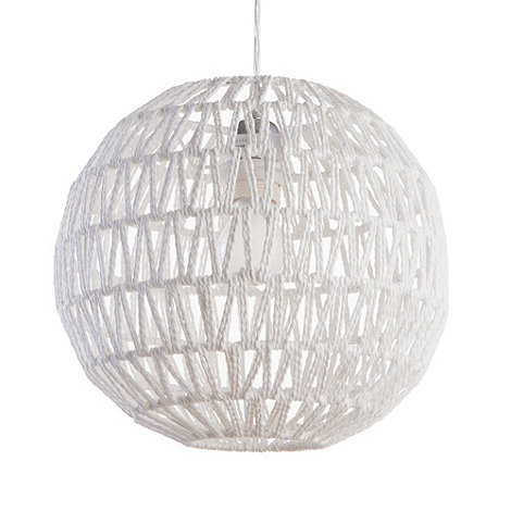Litecraft - Rattan Easy Fit Rope Shade - White