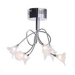 Litecraft - Essen 6 light semi flush Chrome ceiling light