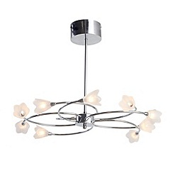 Litecraft - Cagiliari 10 light semi flush Chrome ceiling light