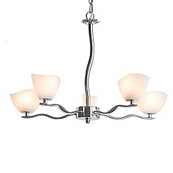 Litecraft - Vigo 5 light pendant Chrome ceiling light pendant