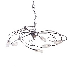 Litecraft - Abidjan 6 light Chrome ceiling light pendant