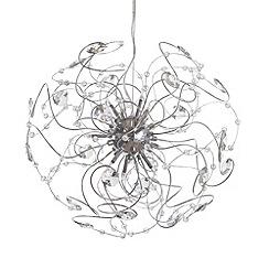 Litecraft - Naha 9 Light Ceiling Pendant - Chrome
