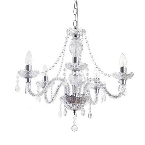 Litecraft - Pinsk 5 light Chrome chandelier