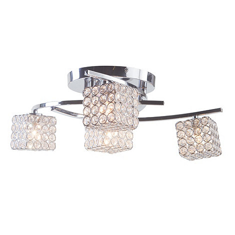 Litecraft - Madrid 4 Light Flush Chrome ceiling light