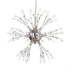 Litecraft - Antalya 13 light Chrome ceiling light pendant