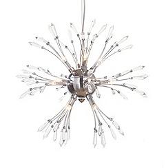 Litecraft - Antalya 13 light Chrome ceiling light pendant