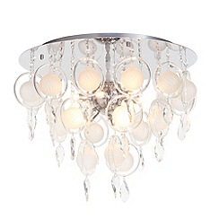 Litecraft - Saturn 9 light Opal flush ceiling light