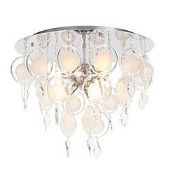 Litecraft - Saturn 9 light Opal flush ceiling light