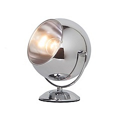 Litecraft - Eye Ball Table Lamp - Chrome