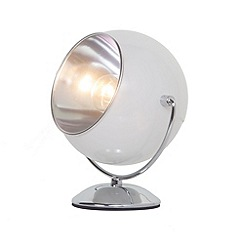 Litecraft - Eye Ball Table Lamp - White