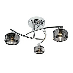 Litecraft - Sammi 3 light Chrome flush ceiling light