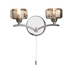 Litecraft - Sammi 2 light  Chrome wall light