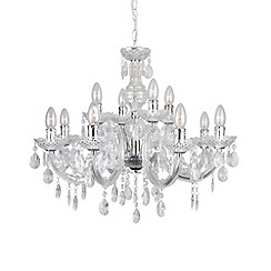 Litecraft - Marie Therese 12 light chrome dual mount chandelier