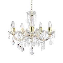 Litecraft - Marie Therese 5 Brass light dual mount chandelier