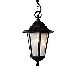Litecraft - Royer Black Outdoor Lantern Pendant Light