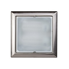 Litecraft - Square recessed  Satin Chrome ceiling light