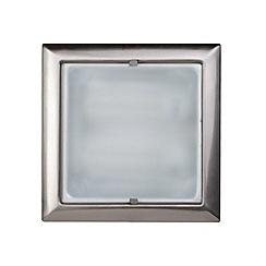 Litecraft - Square recessed  Satin Chrome ceiling light